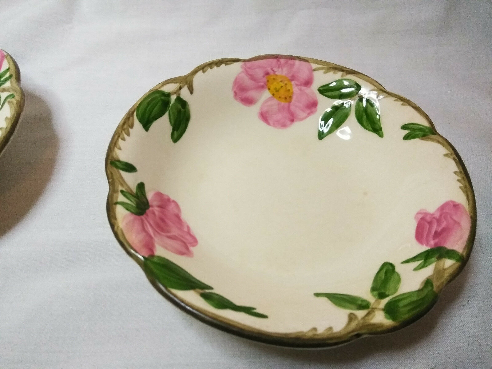 Vintage Franciscan China Set of 2 Small finger/ Ice cream bowls  Desert Rose