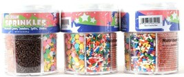 3 Fox Run Ice Cream Sprinkles Decorate Cones Sundaes Splits Shakes 3.2 oz - $18.99