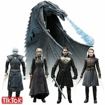 Jon Snow Daenerys Targaryen Night King Viserion Ice Dragon Arya Stark Queen - $24.23+