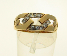 Vintage 9ct Gold CZ Set Ring Size O Birmingham 1990 - $105.28