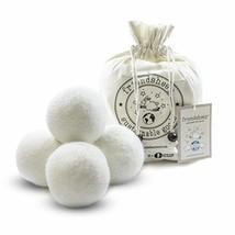 Friendsheep Organic Eco Wool Dryer Balls - 4 White - Handmade, Fair Trade, No Li