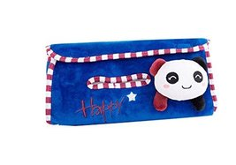 Cute Panda Plush Auto Supplies Hanging Tissue Box Tissue Box Car Tissue Box,Blue