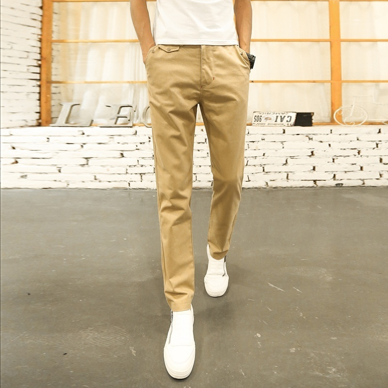 Men Casual Loose Straight Pants Solid Color Trousers for Men image 5