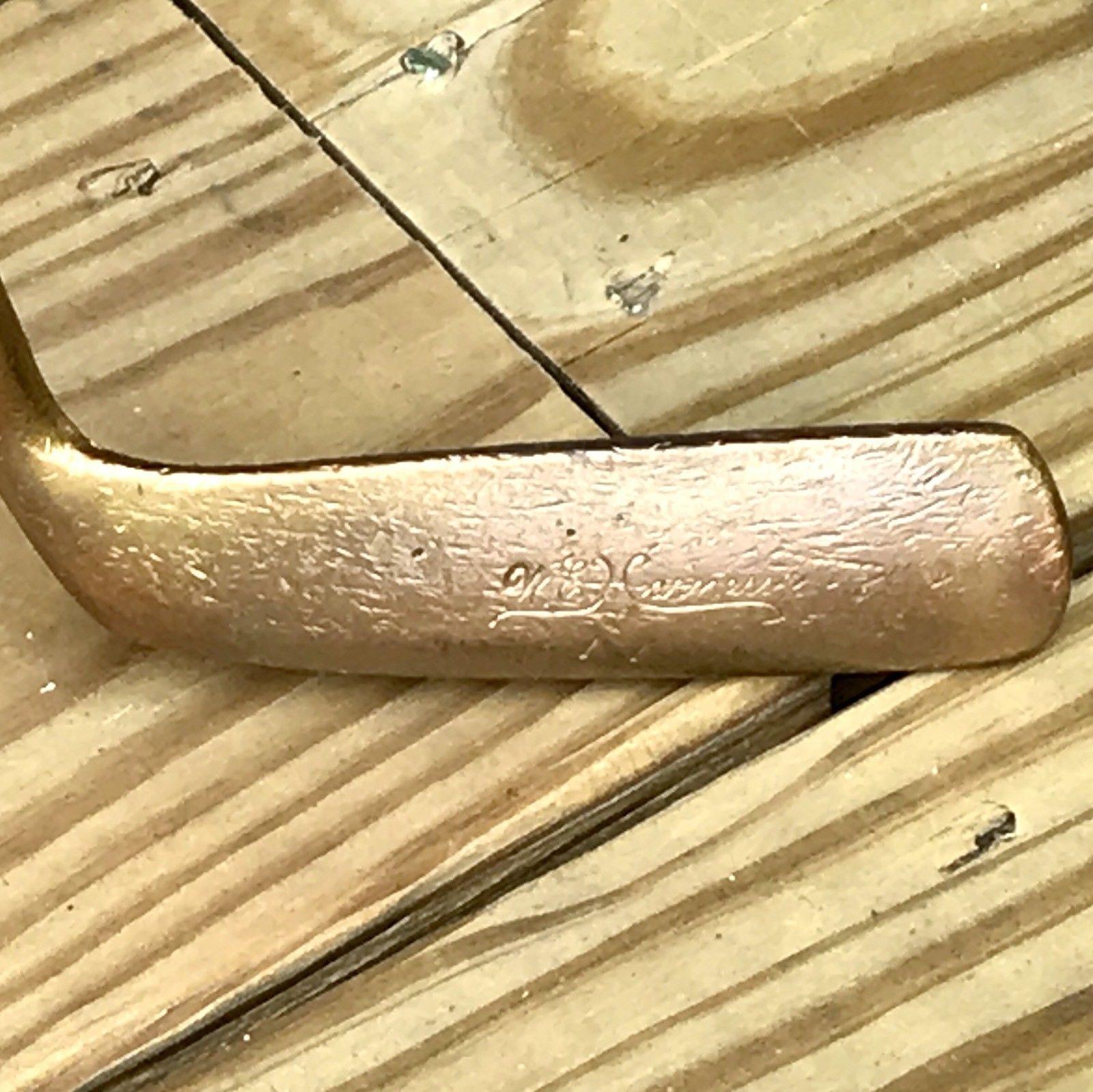 Vintage W E HARNESS Putter Original Wood Grip Solid Steel Shaft 1920's - 1930's
