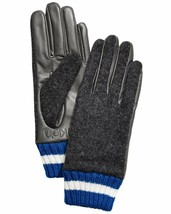 Calvin Klein Women's Leather and Wool Blend Touch Gloves Heather Mid Gre... - $25.71