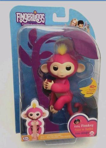 WowWee Fingerlings Pink Baby Monkey BELLA On Hand AUTHENTIC! US SELLER