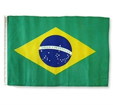 ALBATROS 12 inch x 18 inch Brazil Sleeve Flag for use on Boat, Car, Gard... - $17.38