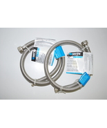 (2) 3/8 x 1/2 x 30 Braided Stainless Steel Faucet Supply Lines by Watts   - $11.18