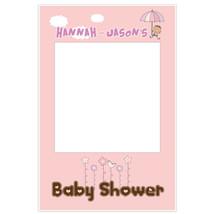 Umbrella Girl Baby Shower Selfie Frame Photo Booth Prop Poster - $16.34+