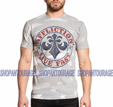 AFFLICTION Patriot A16404 New Short Sleeve Fashion Graphic Grey T-shirt ... - $42.95
