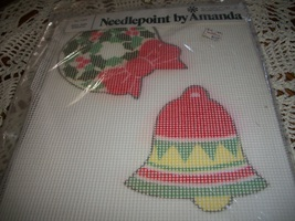 Needlepoint by Amanda Kit No. 7303~Bell and Wreath Ornament Kit - $14.00