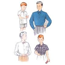 1960s Vintage Butterick Sewing Pattern 5839 Boys Long Short Sleeve Shirt... - $6.95