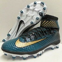 Nike Lunarbeast Elite TD Men's Football Cleats 847588-015 Black Teal Gol... - $47.50