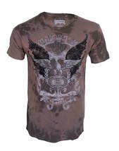 BRAND NEW LEVI'S STRAUSS MEN'S 1853 CLASSIC TYE-DYE EAGLE T SHIRT BROWN 117508
