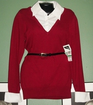 NWT SILK Belted Sweater with Removable Collar & Cuffs NWT - $9.99