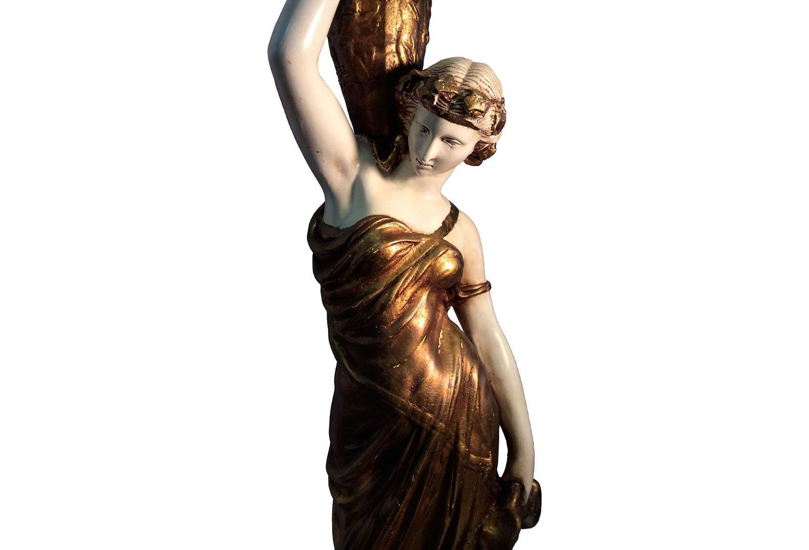 FABULOUS GRECIAN GODDESS  FLOOR LAMP,SO CHIC! 74''TALL.