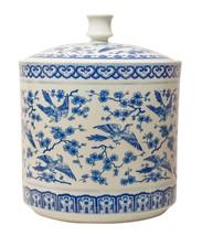 FABULOUS ORIENTAL  BLUE & WHITE BIRDS PORCELAIN  JAR,9'' X 12''H. - $315.00