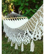 Chic Shabby New Hand Woven Wedding Hammock with Lace Border,11' L. - $175.00