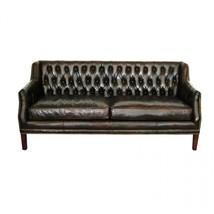 Awesome High Grade Black Leather Artsome Ella Sofa,72''W X 31''D X 31''Tall. - $2,159.34