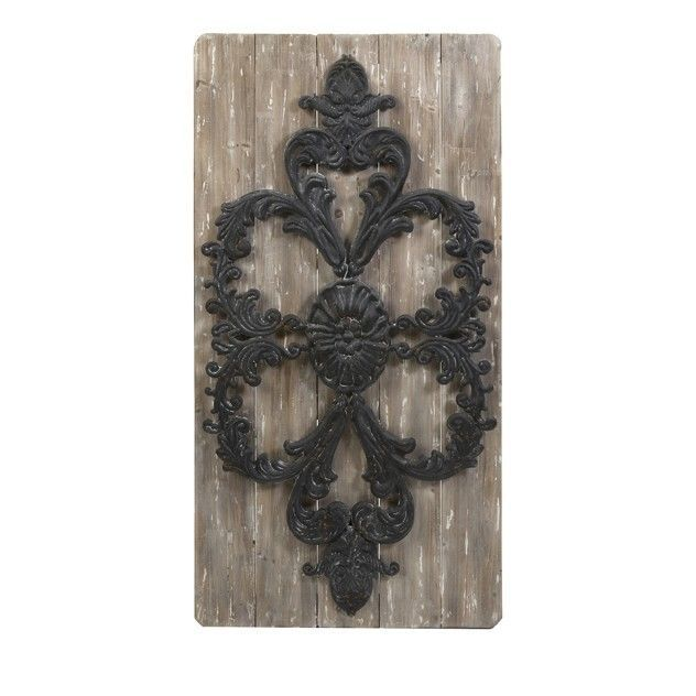 Wooden Gate Wall Decor : Gorgeous set of gothic garden iron wood gate wall decor