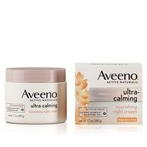 Aveeno Ultra-Calming Nourishing Night Cream for Sensitive Skin with Calming Feve