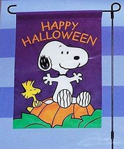 "Peanuts Snoopy HAPPY HALLOWEEN! Applique Halloween Garden Flag ,12"" x 18""  - $38.56"
