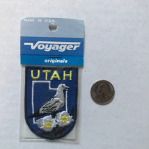Utah State Patch Iron On Vintage Made by Voyager California Gull Sego Lilly - $6.65