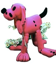 Toy Works Plush Spotted Puppy Stuffed Animal Pink Dog (L3B13!) - $19.99