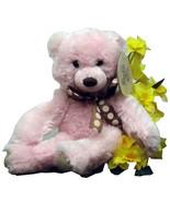 SKM Plush Pink Bear New With Tag Stuffed Animal Cute Detailing (L3B8_20) - $19.99