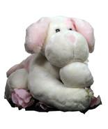 Animal Alley Puppy Dog Pink White Plush Stuffed Animal Soft Baby (L3B8_20) - $19.99