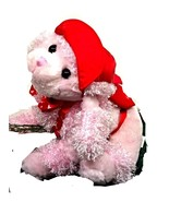 Wal-Mart Plush Pink Valentine Puppy Red Pack Hat Bow Stuffed Animal Dog ... - $9.99