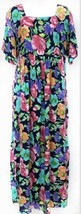 Diane Von Furstenberg Sz L Color Authority Women Floral Maxi Dress Empir... - $46.55