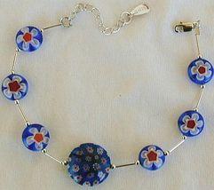 Blue morano flower bracelet thumb200