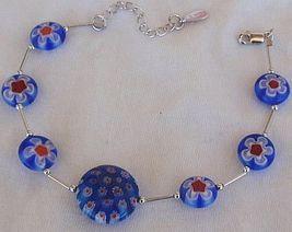 Blue morano flower bracelet 1 thumb200
