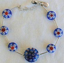 Blue morano flower bracelet 2 thumb200
