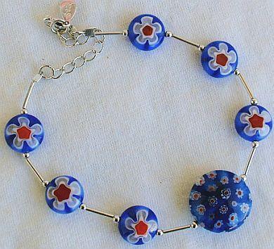 Blue morano flower bracelet 3