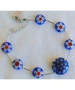 Blue morano flower bracelet - $25.00