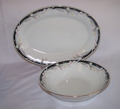 Tienshan China Michelle Oval Platter and Vegeta... - $12.00