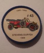 Jello Car Coins -- #43  of 200 - The Stevens-Duryea - $10.00