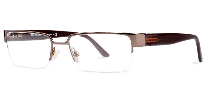 New Authentic Burberry BE1110 1031 Brown Semi-Rimless ...