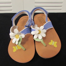 Sam & Libby Girls Thong Sandal Lavender & White w/Daisy Flower on Vamp Size: 8M