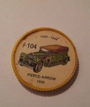 Jello Car Coins -- #104  of 200 - The Pierce-Arrow - $10.00