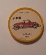 Jello Car Coins -- #106  of 200 - The Cadilac - $10.00