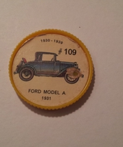 Jello Car Coins -- #109  of 200 - The Ford Model-A - $10.00