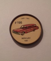 Jello Car Coins -- #195  of 200 - The Mercury - $10.00