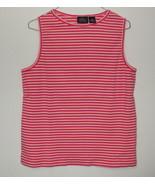 Womens Sonoma Jean Co Pink Stripe Sleeveless Top Size XL - $3.95
