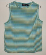 Womens Sonoma Jean Co Teal Stripe Sleeveless Top Size XL - $3.95