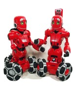 Pair of Red Tri-Bot Wow Wee Robots with Remote (C4B4*) - $79.99