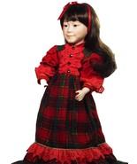 Doll & Clothes Porcelain Dark Hair Beautiful Face Marian Yu Designs 20 I... - $39.99