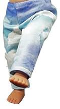 "(I20B35) Clothes American Handmade Blue Clouds Pants 18"" Inch Dolls  - $9.99"